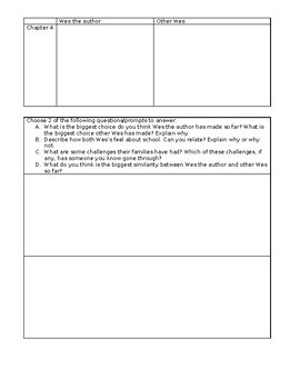 The Other Wes Moore - Activity Pack