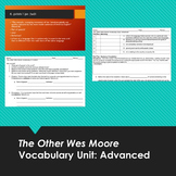 The Other Wes Moore Advanced Vocabulary Unit