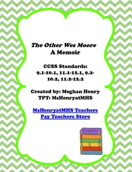 The Other Wes Moore Creating Theme