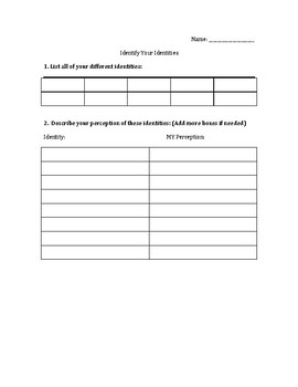 The Other Wes Moore Identity Worksheet