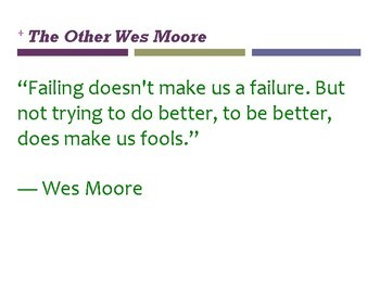 The Other Wes Moore POSTERS...