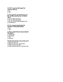The Other Wes Moore Quiz- Ch. 4