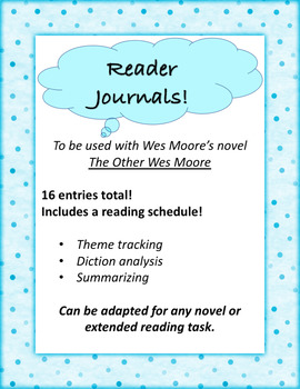 The Other Wes Moore Reader Journals