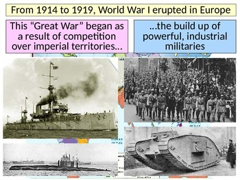 The Outbreak of WWI PowerPoint for use with slotted notes-