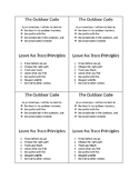 The Outdoor Code and Leave no Trace Principles