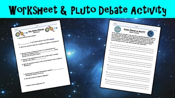 The Outer Planets No Prep Lesson with Power Point, Worksheet, and Pluto Debate