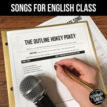 The Outline Hokey Pokey: Writing Song Mini-Lesson for English Class (All Grades)