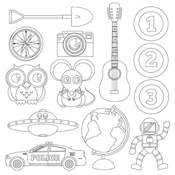 The Outlined Collection-121 Icon Kit