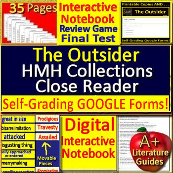 The Outsider Activities 8th Grade HMH Collections - Close Reader H. P. Lovecraft