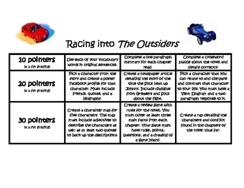 Differentiated choice menu for The Outsiders