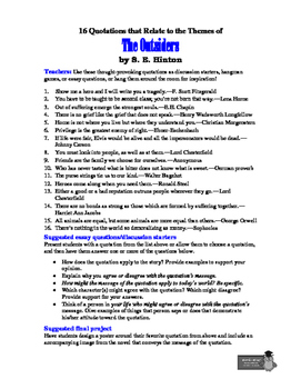 The Outsiders: 16 Well-Researched Theme-Related Quotations + Teaching Ideas!