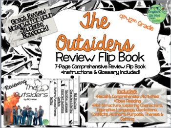The Outsiders-Reviewing Characters, Plot, Conflicts-{Flip Book}