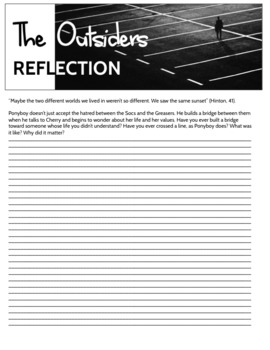 The Outsiders: 3 Reflective Writing Prompts