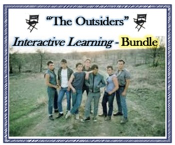 """""""The Outsiders""""- 5 interactive role play lessons with exit activities - BUNDLE"""