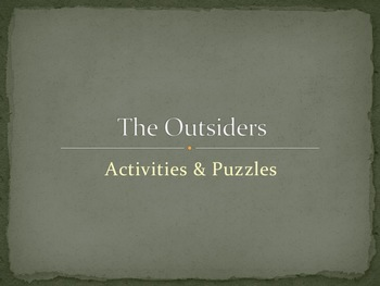 The Outsiders Activities & Puzzles