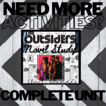 The Outsiders Activity: Characterization / Analysis & Student Self-Reflection