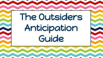 """""""The Outsiders"""" Anticipation Guide Worksheet"""