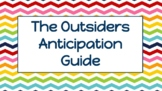 """The Outsiders"" Anticipation Guide Worksheet"