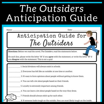The Outsiders Anticipation Guide