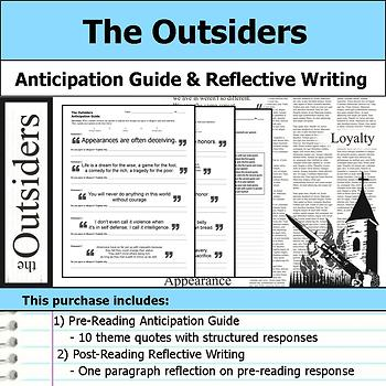 The Outsiders - Anticipation Guide & Written Reflection