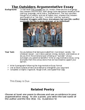The Outsiders - Argumentative Synthesis Essay