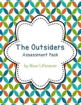 The Outsiders Assessment Pack