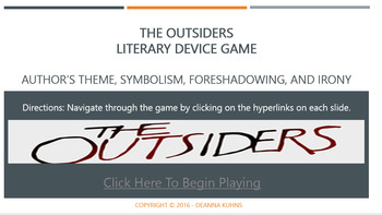 The Outsiders - Author's Theme, Symbolism, Irony, and Foreshadowing