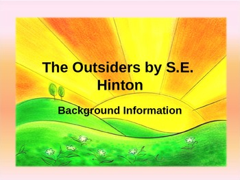 The Outsiders Background Information PowerPoint