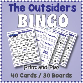 The Outsiders Bingo Game