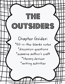 The Outsiders Chapter 1-12 Guide Bundle