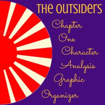 The Outsiders:  Chapter 1 Character Analysis Chart
