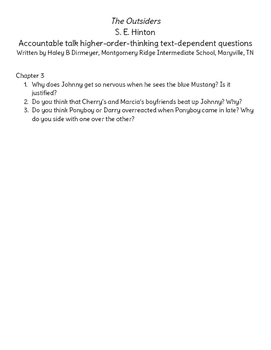 The Outsiders Chapter 3 Discussion Questions