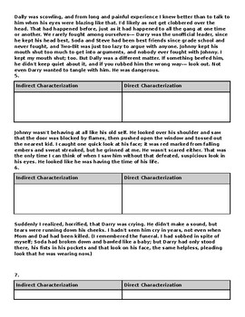 The Outsiders - Chapter 6 Close Reading Questions