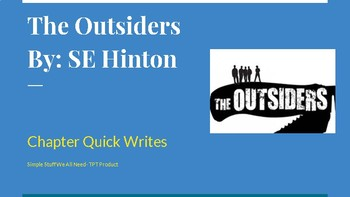 The Outsiders Chapter Quick Writes