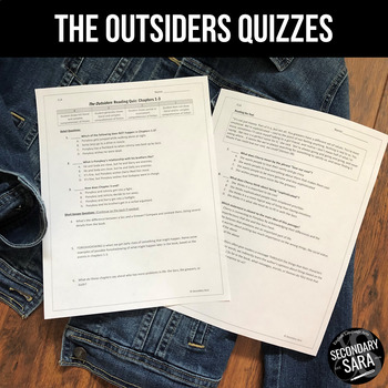 The Outsiders: Chapter Quizzes