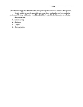 The Outsiders Chapters 1-4 Multiple Choice Questions