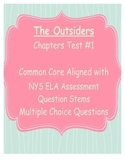 The Outsiders Chapters 1-9 Multiple Choice Test