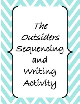 The Outsiders Chapters 2, 3, and/or 4 Sequencing Activity Mock Trial Feebie