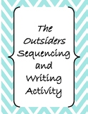 The Outsiders Chapters 2, 3, and/or 4 Sequencing Activity