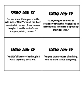 The Outsiders Character Analysis Stations