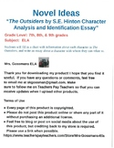 The Outsiders Character Analysis and Identification