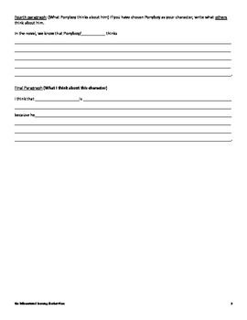 The Outsiders Character Sketch Essay Organizer