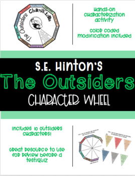 The Outsiders Character Wheel Pdf By Katherine Ellis Tpt The book was published in multiple languages including english, consists of 192 pages and is available in mass market paperback format. the outsiders character wheel pdf