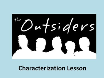 The Outsiders- Characterization Cards