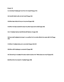 The Outsiders Close Reading Questions Chapters 9 and 10