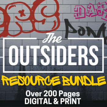 Outsiders Teacher Guide - Common Core Novel Unit for Teaching The Outsiders