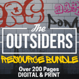 Outsiders Teacher Guide Novel Unit Plan PACKET | DISTANCE LEARNING