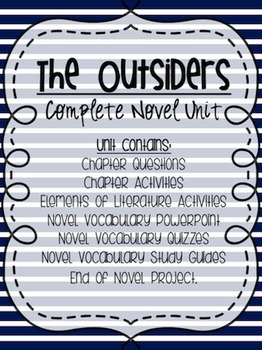 The Outsiders: Complete Novel Unit