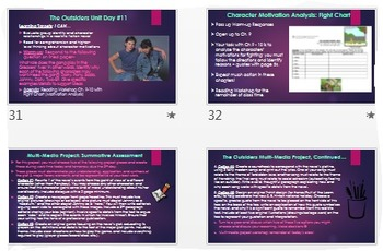 The Outsiders Complete Unit: Common Core ELA Daily Activities+Assessments!