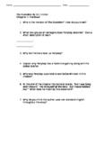 The Outsiders Comprehension Handouts Chapter 1-3